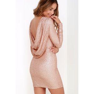 Lulu's Gleam Back Sequin Dress